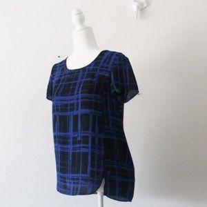 💕NWT Hippie Rose Plaid Short Sleeve Blouse L617
